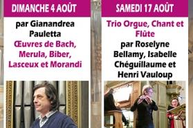 Affiche concerts d'orgue août 2019