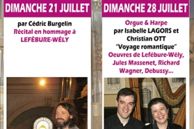 Affiche concerts d'orgue juillet 2019