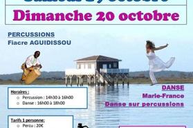 Affiche stage percussions et danse