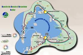 Plan de la Boucle du Bassin d'Arcachon
