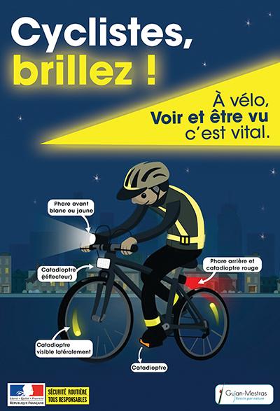 Affiche sécurité routière Cyclistes brillez.jpg